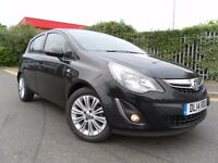 2014 BLACK VAUXHALL CORSA 1.2 SE LEATHER TRIM LOW MILEAGE CHEAP TO RUN GREAT CONDITION