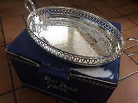 SILVER PLATED DECORATIVE TRAY