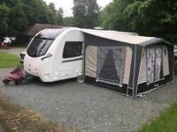 REDUCED PRICE ISABELLA AWNING WITH COSY CORNER, GROUND SHEET AND WINDBREAK