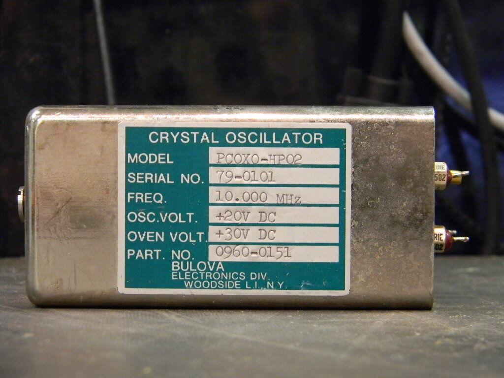Bulova PCOXO-HP02 Oven Stabilized 10Mhz Crystal Oscillator
