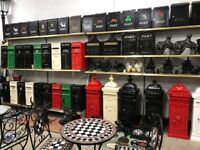 Cast iron & aluminium post boxes Garden furniture