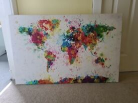Watercolour effect World map