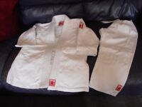 Judo/Taekwondo white outfit, by Fighting Films Red Label, approx 6-8yrs, 130cm