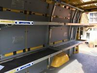 Mercedes sprinter VW crafter metal shelving DHL