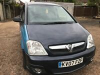 Vauxhall Meriva Design TwinPort 1364cc Petrol 5 speed manual 5 door MPV 07 Plate 01/03/2007 Blue