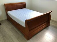 *Urgent* Double Sleigh bed ,Chest of drawers, Wooden Wardrobe