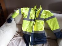 For sale brand new with tags hooded Arco yellow Hi-Vis coat size S