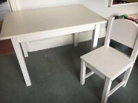 Ikea Sundvik kids table and chair - good condition