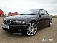 BMW M3 CONVERTIBLE 2003 MANUAL CARBON BLACK...