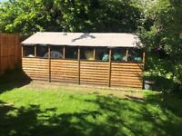16x8ft shed only 8 months old!
