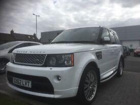 White Range Rover Sport Autobiography fully loaded, TV etc