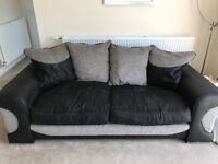 Sofology 3 seat sofa, swivel chair and footstool