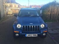2003 Jeep cherokee ltd 2.8 diesel automatic blue electric heated leathers alloys tints bargain