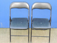 2 chairs Black Foldable (Delivery)
