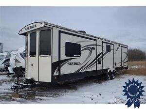 2016 Forest River Sierra 385FKBH, Enclosed Shower, Wood Flooring
