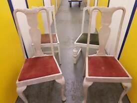 Set 9hf 4 vintage chairs