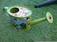 SMALL WATERING CAN HAND PAINTED IN CANAL LONGBOAT STYLE