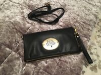 Mulberry style black clutch bag