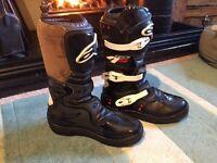 Alpinestar Tech 4s size 5 motorcross boots