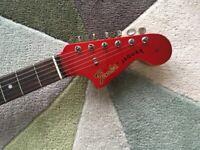 Fender Jaguar CIJ 2002 Candy apple, matching headstock! Staytrem! Mint!