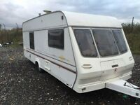 Lunar solar 1999 4 berth 18ft end changing area separate toilet and shower 12/240v oven hob and