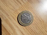 Very rare 50 pence pieces and 2 pound coin