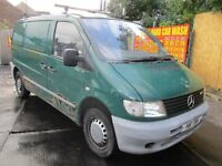 01Y MERCEDES VITO 2.1 110 CDI GREEN DIESEL VAN PLYLINED SHELFS RHINO ROOF BARS BELOW AVERAGE PX SWAP