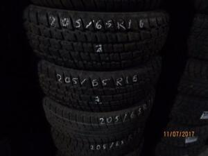 205/65R16 2 ONLY USED COOPER ST2 SNOW WINTER TIRES