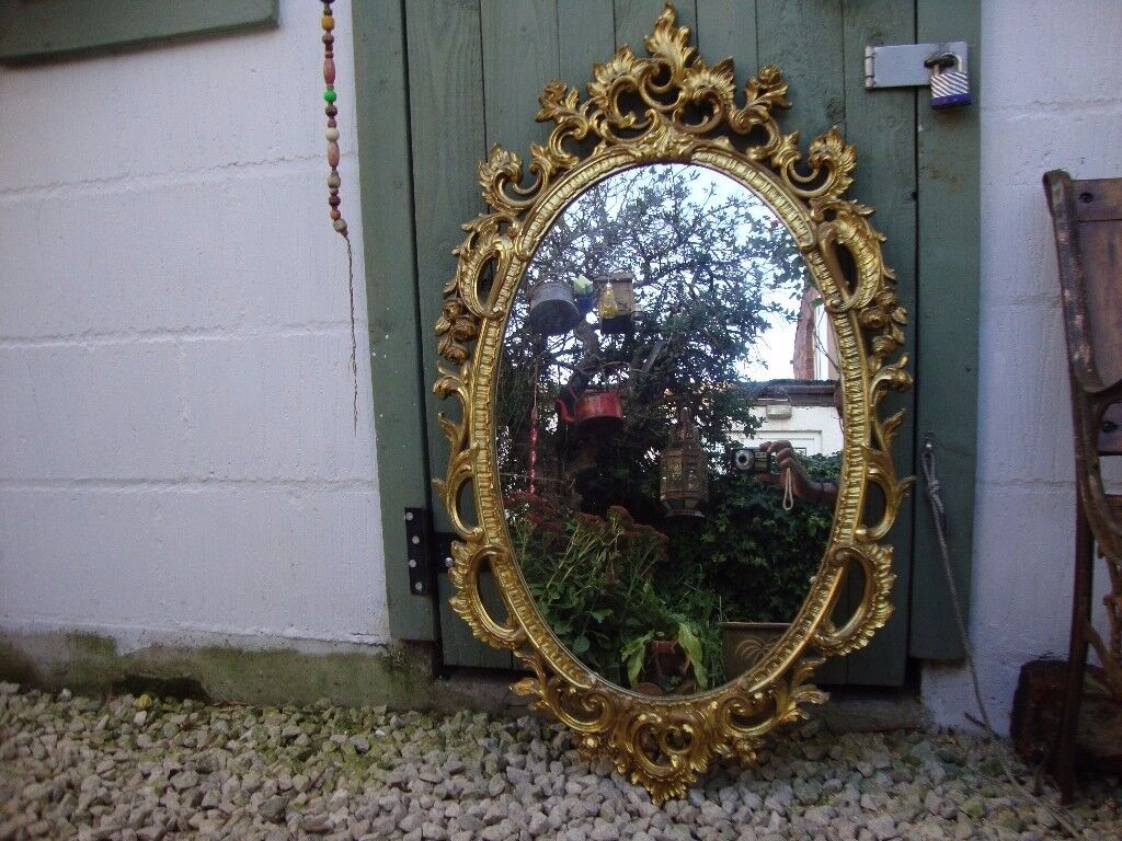 Gilt Oval Mirror