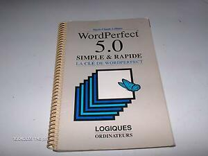#258 WORDPERFECT 5.0 MANUEL SIMPLE & RAPIDE LA CLÉ DE WORDPERFEC