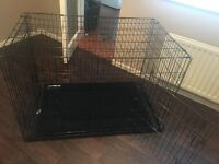 """Dog crate cage 48"""" including mat"""