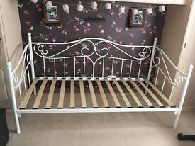 'Amy' White Metal Frame Day Bed and Premium Quality Mattress - Originally from Dreams.