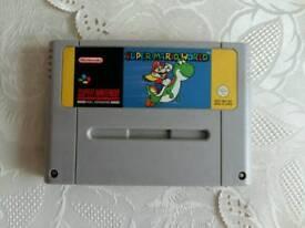 SNES super nintendo game Super Mario World