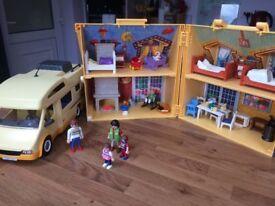 playmobil house and camper van