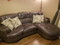 Leather dfs swivel sofa. Very comfy!