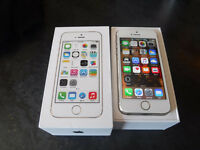 Iphone 5s in gold all boxed