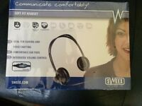 Sweex Soft fit headset, Brand new