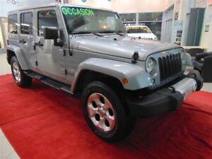 2014 Jeep WRANGLER UNLIMITED SAHARA 4X4+GPS+2 TOITS+HITCH