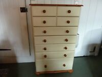 Large 9 drawer Chest of Drawers