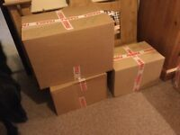 Cardboard packing boxes. 2 sizes