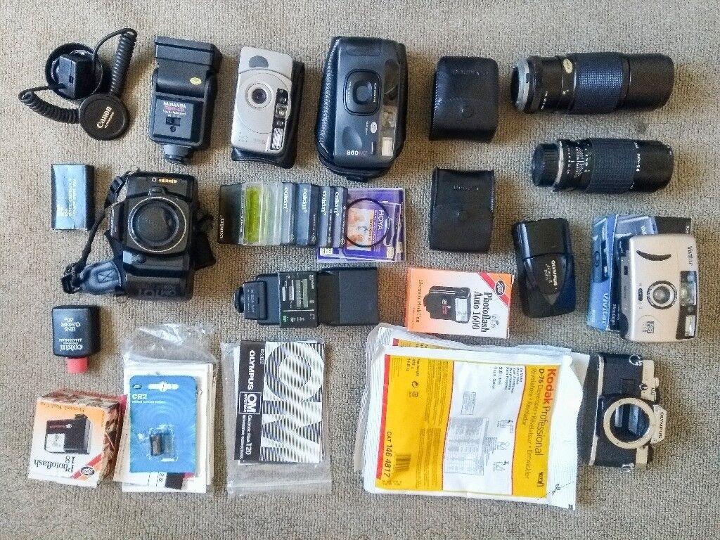 Cameras, 35mm, mju zoom, vivitar, cokin filters, lenses, flashes, olympus,  sigma, kodak | in Newcastle, Tyne and Wear | Gumtree