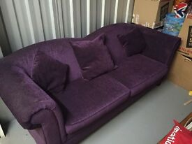 Gorgeous purple 3 seater sofa