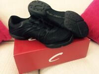 Capezio Bolt - Black Dance Trainers Adult Size 11 (Small Fitting). RRP £30.