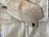 Pure silk tie and matching handkerchief
