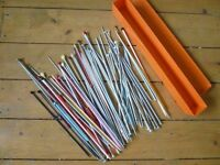 Large selection of knitting needles