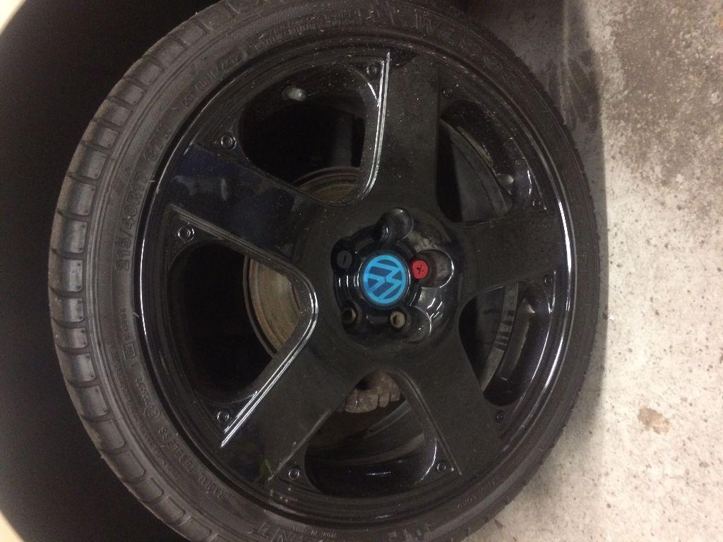VW MK4 GOLF 17inch SANTA MONICA WHEELS REFUBERD IN BLACK ...