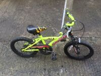 "Boys bicycle, frame size 9"", yellow ""Grizzly Wild Fire"". Great wee bike well looked after. £20 ONO"