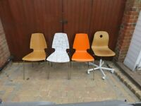 Four Shop or Office chairs