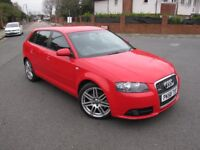 Audi A3 2.0 TDI S line Sportback S tronic 170bhp Automatic 5 door diesel 2008,with 3months warranty