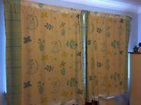 Curtains for boy or girl bedroom/nursery/playroom